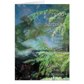 Pins de prière de sérénité carte de vœux