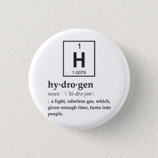 Pin's Définition d'hydrogène