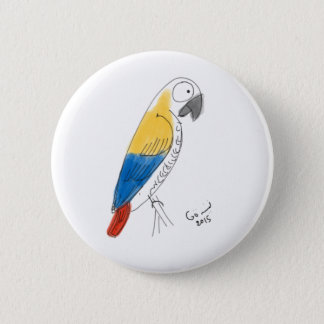 Pin's demi de perroquet de couleur