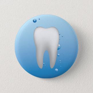 Pin's Dentiste dentaire blanc de bureau de dent et d'eau