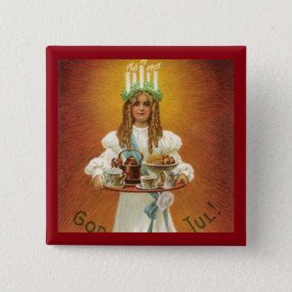 Pin's Dieu juillet ! Lucia avec des festins