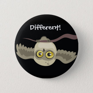 Pin's Différent ! Bouton de hibou d'Upsidown