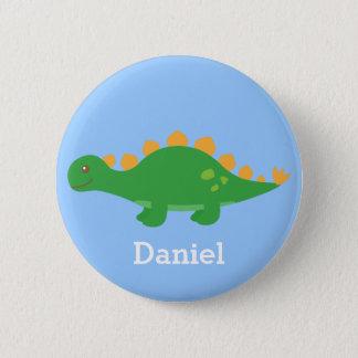 Pin's Dinosaure vert mignon de Stegosaurus pour des