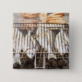 Pin's Dorades sur le gril de barbecue
