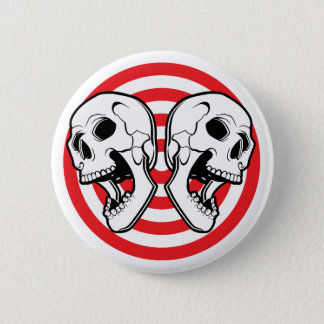 Pin's Double cible de crâne