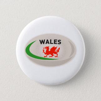 Pin's Dragon du Pays de Galles Gallois de boule de rugby