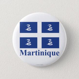 Pin's Drapeau de la Martinique avec le nom