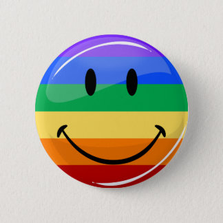 Pin's Drapeau de sourire rond brillant de gay pride
