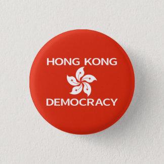 Pin's Drapeau d'orchidée de Hong Kong de démocratie