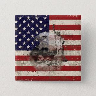 Pin's Drapeau et symboles des Etats-Unis ID155