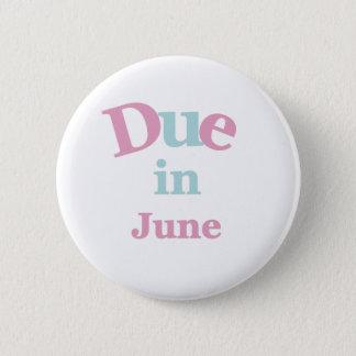 Pin's Dû rose en juin