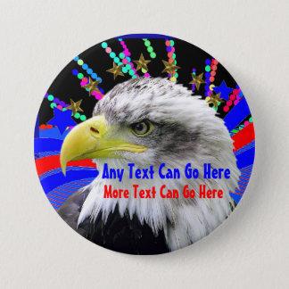 Pin's Eagle patriotique et Pin rond de bouton d'étoiles