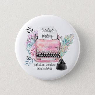Pin's Écriture créative de machine à écrire rose vintage