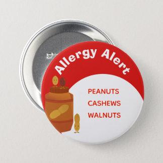 Pin's Écrous vigilants du bouton   d'allergie