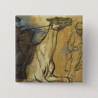 Pin's Edgar Degas | deux études des cavaliers