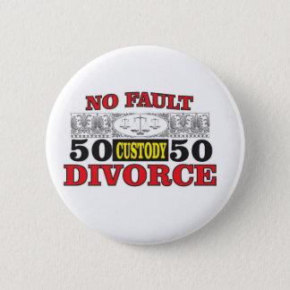 Pin's égalité 50 du divorce sans faute 50