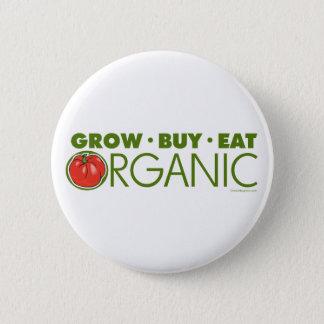 Pin's Élevez, achetez, mangez organique