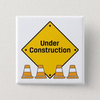 Pin's En construction avec des cônes