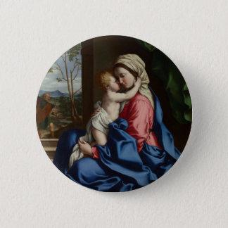 Pin's Enfant Madonna de embrassement du Christ