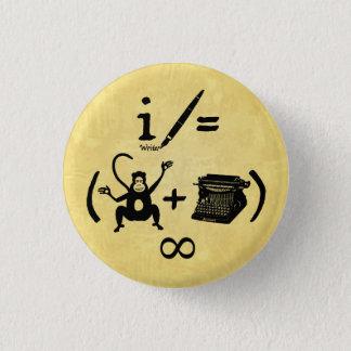 Pin's Équation drôle de machine à écrire de singe