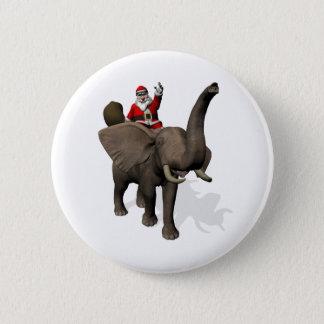 Pin's Équitation du père noël sur l'éléphant