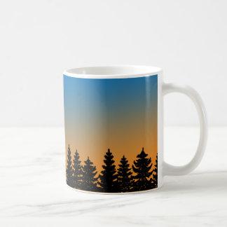 Pins et forêt | de pin du ciel | de coucher du mug