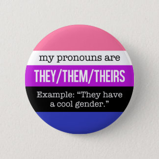 Pin's Eux/eux pronoms - drapeau de Genderfluid