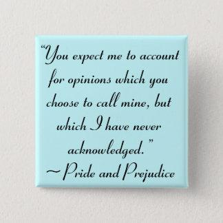 Pin's Expliquez la citation de Jane Austen d'avis