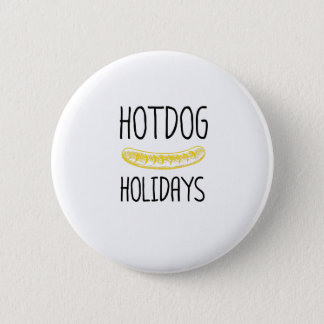 Pin's Famille de partie de vacances de hot dog drôle