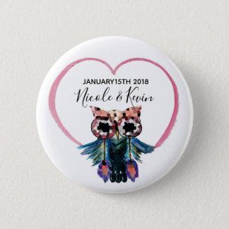 Pin's Faveur heureuse de mariage de hibou