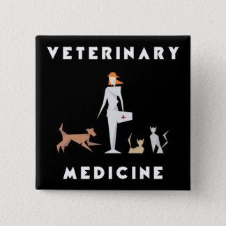 Pin's Femme géométrique de médecine vétérinaire