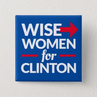Pin's FEMMES SAGES POUR le bouton carré de deux pouces