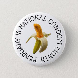 Pin's Février est bouton national de mois de préservatif