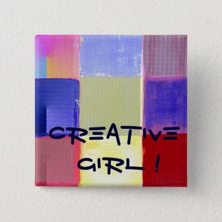 Pin's Fille créative ! avec les contrôles colorés
