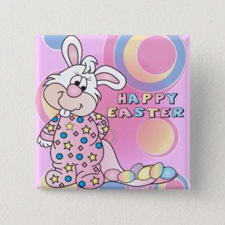 Pin's Fille de lapin douce heureuse de Pâques avec des