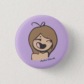 Pin's Fille Emoji - bouton heureux