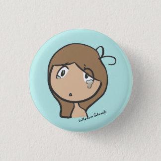 Pin's Fille Emoji - bouton triste