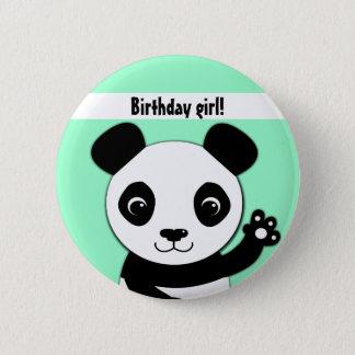 Pin's Fille mignonne simple d'anniversaire de panda