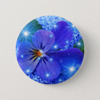 Pin's fleur bleue