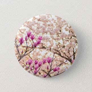 Pin's Fleur pourpre rose de floraison de ressort de