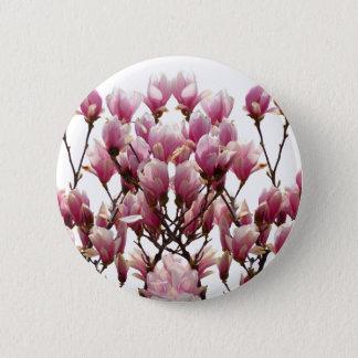Pin's Fleur rose de floraison de ressort de magnolias