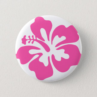 Pin's Fleur rose de ketmie