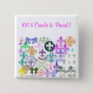 Pin's fleurdelis, 100 % créole et fier !
