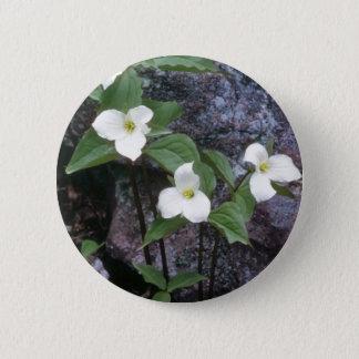 Pin's fleurs blanches de Trillium