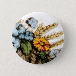 Pin's fleurs et blé