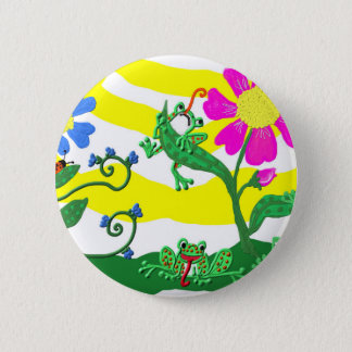 Pin's Fleurs et grenouilles