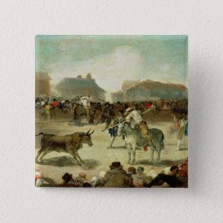 Pin's Francisco Jose de Goya | une corrida de village