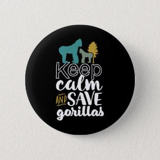 Pin's Gardez l'activiste d'animal de faune de gorilles