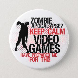 Pin's Gardez le bouton drôle de Gamers d'apocalypse