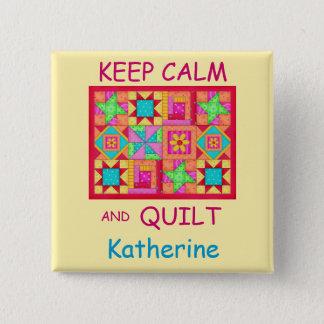 Pin's Gardez le calme et l'édredon de patchwork multi de